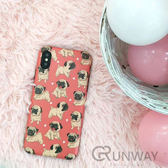 可愛 巴哥犬 愛心 IMD 磨砂 手機殼 蘋果 iPhone 8 plus 全包邊軟殼