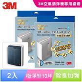 3M 專櫃淨呼吸空氣清淨機-極淨型10坪T20AB-ORF專用濾網(除臭加強濾網) (2入組)