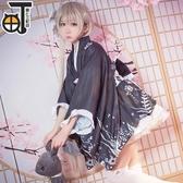 春日野穹cos穹妹黑色和服浴衣cosplay服裝女【聚可愛】【聚可愛】