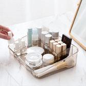 透明多格化妝品收納盒 梳妝台桌面儲物盒子塑料文具整理盒   遇見生活