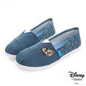 Disney 心動瞬間 奇奇蒂蒂電繡懶人鞋-藍
