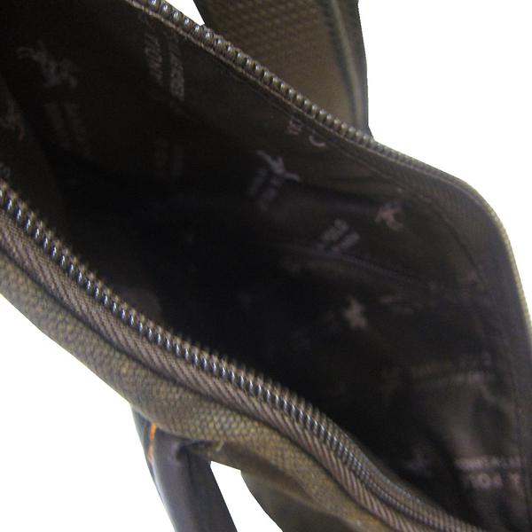 ~雪黛屋~SANDIA-POLO 單後背包小容量扁包設計左肩後背單肩包防水帆布+皮革量BDN100012244