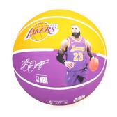 SPALDING 湖人-詹姆士 LeBron 籃球 #SPA83848(附球針 7號球 免運 ≡排汗專家≡