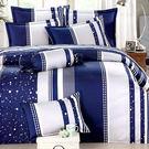 【Jenny Silk名床】飛舞藍調.100%純棉.雙人鋪棉兩用被套.全程臺灣製造