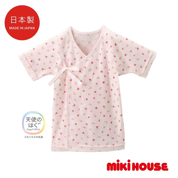 MIKI HOUSE BABY 日本製 小花紗布衣