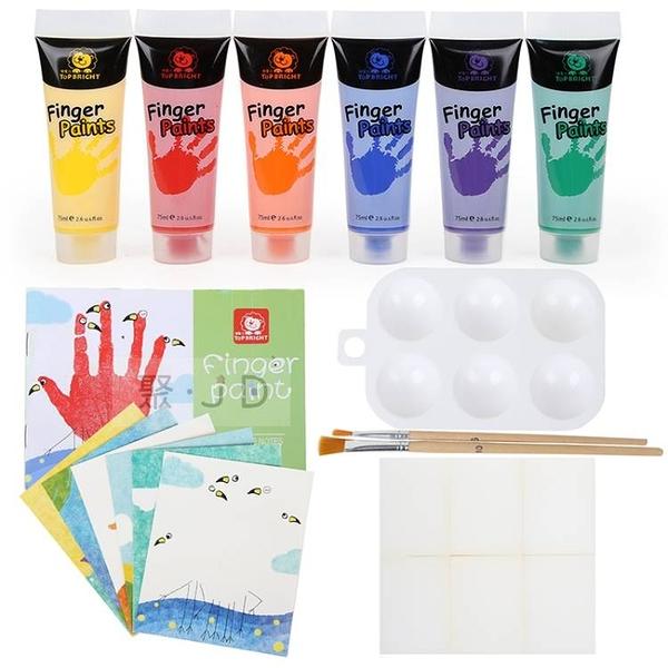 【芬蘭 Top Bright】SF001721 小小藝術家安全可水洗手指畫顏料 (6 色) 14413