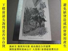 二手書博民逛書店【百罕見】1895年平版畫《das dragoner regiment bayreuth bei friedber