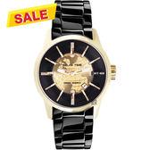 【挑戰最低價】RELAX TIME RT62系列 人動電能地球腕錶-金框x黑/45mm RT-62K-3