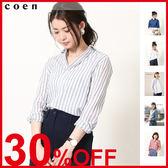 白襯衫 格紋襯衫『Liniere』6月號刊載【coen】