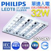 【有燈氏】PHILIPS 飛利浦 LED 2尺 4管 T8 32W 輕鋼架燈 含Eco光源【TBS195】