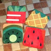 ◄ 生活家精品 ►【V35】方型水果圖案椅子墊 地墊 門墊 腳墊 地毯 玄關 浴室 廚房 臥室 客廳 防滑