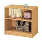 【森可家居】貝莎2.7尺檜木色收納櫃 9CM182-4 置物櫃 書架
