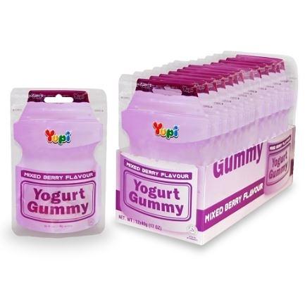YUPI-呦皮綜合莓果優格味QQ糖(40g)*6包【合迷雅好物超級商城】