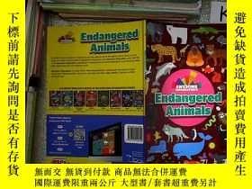 二手書博民逛書店AWESOME罕見INFOGRAPHICS ENDANGERED ANIMALS 可怕的信息圖表瀕危動物(09)奇