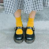 全館83折 學院風娃娃軟妹皮鞋可愛文藝復古女鞋平底森女日系瑪麗珍單鞋圓頭