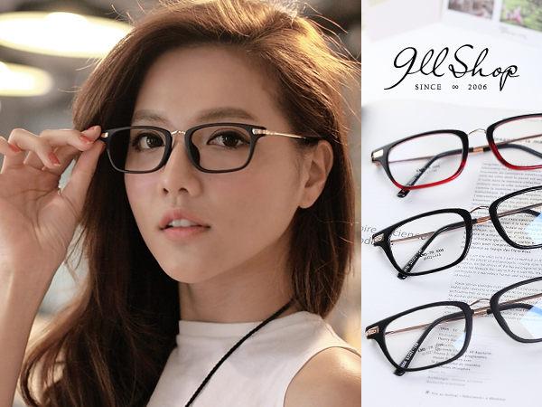 Cheer.TR90塑膠鈦MIX金屬花紋方框光學配鏡框眼鏡【p624】*911 SHOP*