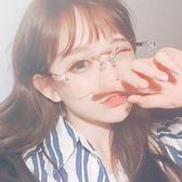 韓版透明平光鏡女素顏大框網紅眼鏡框架潮軟妹個性近視眼睛男復古