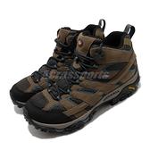 Merrell 戶外鞋 Moab 2 Mid GTX 咖啡 黑 男鞋 運動鞋 Gore-Tex 越野 【ACS】 ML034803
