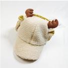 兒童棒球帽秋冬羊羔絨男女童洋氣雷鋒帽寶寶保暖護耳帽 『優尚良品』