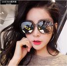 2017明星款大框墨鏡 方形超輕太陽眼鏡 女網紅鏤空墨鏡潮圓臉韓版眼鏡【B042】