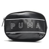 PUMA WMN CORE 黑 皮革 英文LOGO斜背包 小包包 迷你側背包 (布魯克林) 07739101
