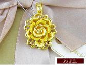 9999純金 黃金墜飾 玫瑰物語 情人節 母親節 探親 黃金墜飾