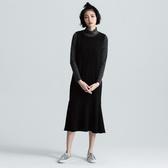 SISJEANS-黑色針織魚尾洋裝【1729500599】