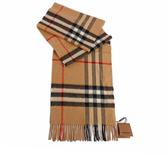 【BURBERRY】基本款經典格紋喀什米爾圍巾(駝色) 8015527 A5655