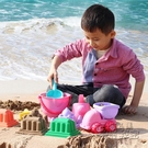 沙灘玩具套裝軟膠玩沙子挖沙鏟子小桶男女孩戲水洗澡工具HM 衣櫥秘密