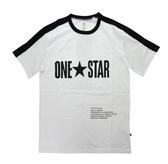 CONVERSE系列 男款白色 運動短袖 -NO.10016941-A01