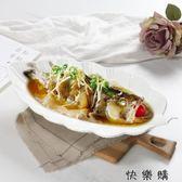 創意純白色陶瓷盤超大號蒸魚盤酒店餐廳餐具家用個性不規則菜盤子igo 探索先鋒