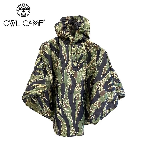 丹大戶外【OWL CAMP】虎斑迷彩雨衣(小) PTS-002 風雨衣