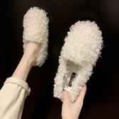 豆豆鞋 網紅同款豆豆鞋女韓版加絨棉鞋瓢女鞋2019秋冬季外穿一腳蹬毛毛鞋 喜樂屋