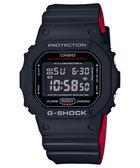 G-SHOCK CASIO (DW-5600HR-1)卡西歐 防水 運動 電子 手錶/黑紅/42.8mm