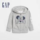Gap女幼童 LOGO迪士尼系列連帽外套 552059-石楠灰色