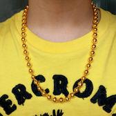 鍍金項鍊 越南沙金項鍊男士實心光面圓珠鍊情侶鍍金項鍊歐幣仿黃金項鍊【中秋節禮物八折搶購】