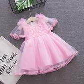 洋裝連身裙女童連衣裙夏裝1-3歲兒童公主裙2洋氣0禮服5夏季嬰兒女寶寶裙子三角衣櫥