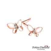 鑽石耳環 PERKINS 伯金仕 Butterfly玫瑰金系列耳環