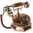 設計師美術精品館新款歐式仿古電話機老式轉盤復古旋轉電話機家用辦公座式裝飾電話
