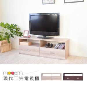 【Hopma】現代二抽電視櫃-淺橡木