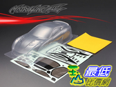 [9玉山最低比價網] 1/10 競速漂移改裝車殼 PC透明碳纖車殼 法拉利 599XX 195mm