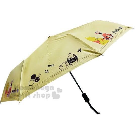 〔小禮堂〕迪士尼 小熊維尼 加大折疊雨陽自動傘《黃.跳跳虎》折傘.雨具.雨傘 4710591-65998