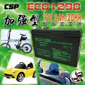 【CSP】ECO1290電池 (12V9Ah 長壽命、維護簡單、循環使用)