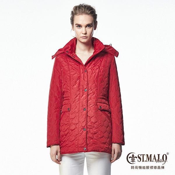 【ST.MALO】珍稀羊駝蓄暖長大衣-1694WJ-拉丁紅