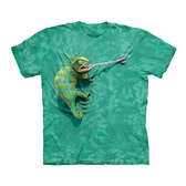 【摩達客】(預購)美國進口The Mountain 攀岩變色龍 純棉環保短袖T恤(10415045077)