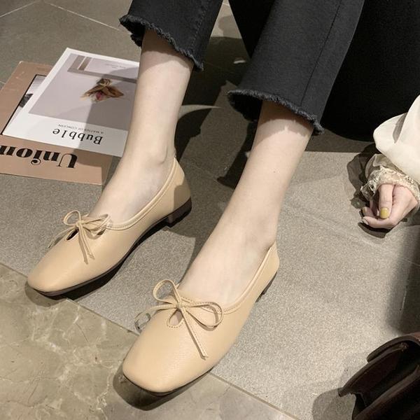 豆豆鞋 淺口單鞋女2020夏季新款百搭網紅懶人一腳蹬奶奶豆豆潮鞋春季2020 薇薇
