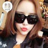 老虎頭墨鏡 潮男復古大方形黑超韓版款太陽鏡黑框眼鏡女Mandyc