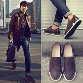 2021夏季新款韓版潮流男士休閒鞋英倫皮鞋板鞋樂福鞋透氣低筒鞋子 米娜小鋪 YTL
