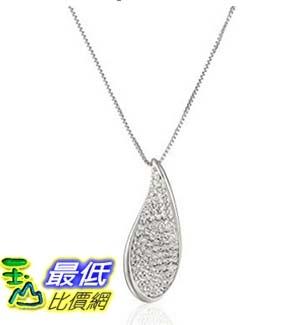 [美國直購] Sterling Silver White Wave with Swarovski Elements Pendant Necklace, 18 項鍊