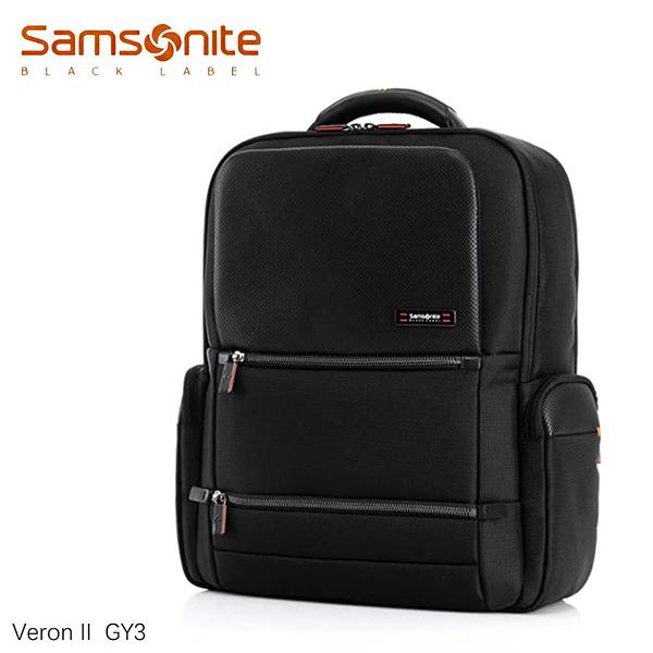 Samsonite 新秀麗【Veron II GY3】黑標頂級電腦商務後背包 可放筆電+IPAD可插掛皮革配飾007 (歡迎詢問)